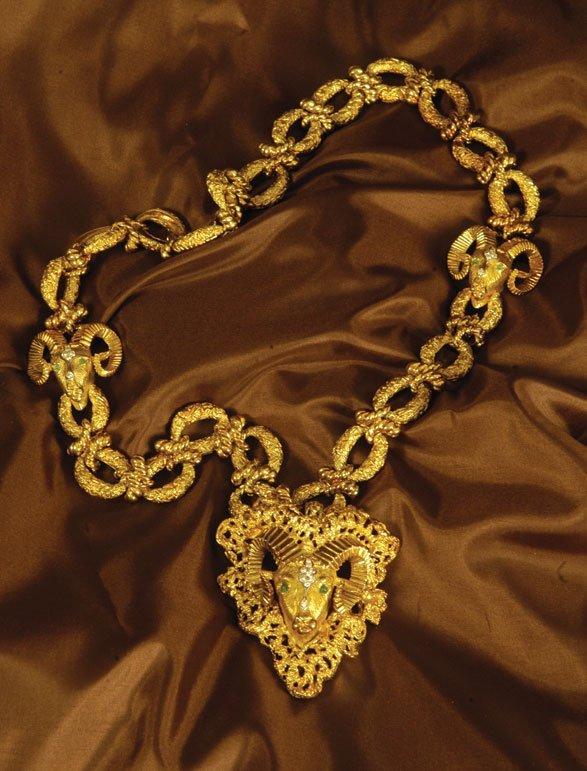 Elvis Presley's Ram's Head Necklace