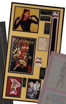 """Julie Newmar """"Catwoman"""" Plaque from """"Batman"""""""