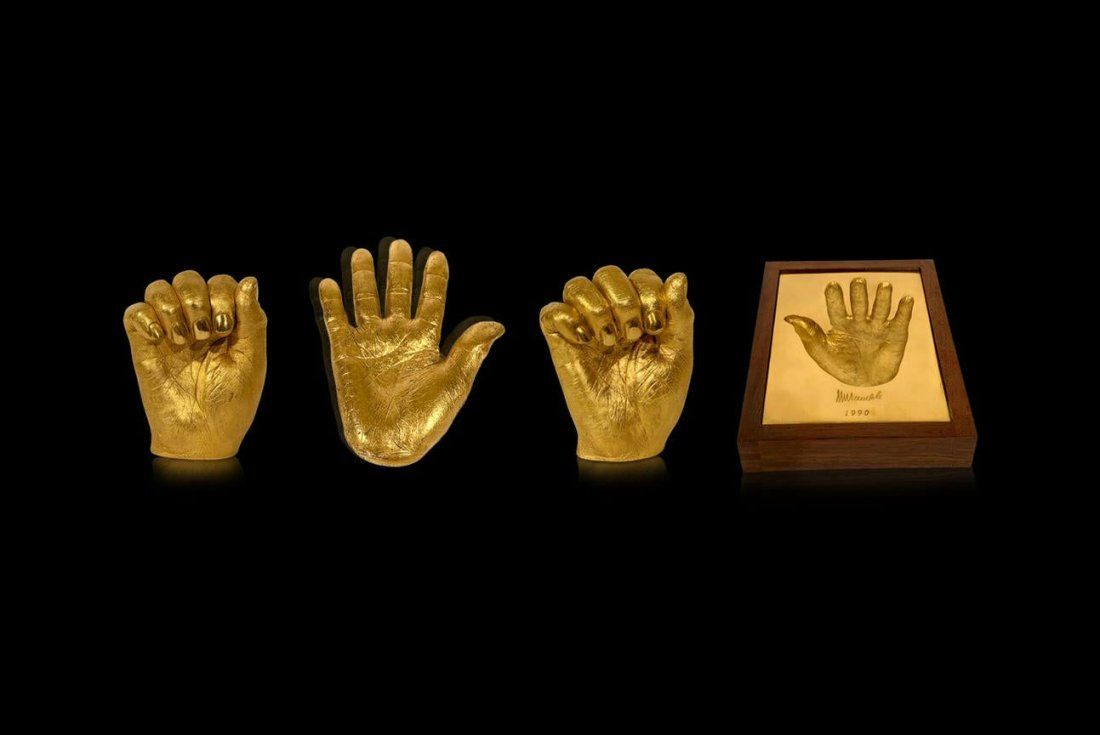 Nelson Mandela, His Hands in Gold (Collection)