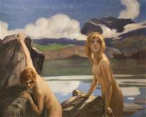 Paul Emile Chabas, Two Bathers