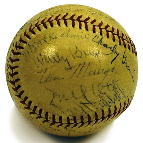 152: 1936 National League All Stars Signed Ball