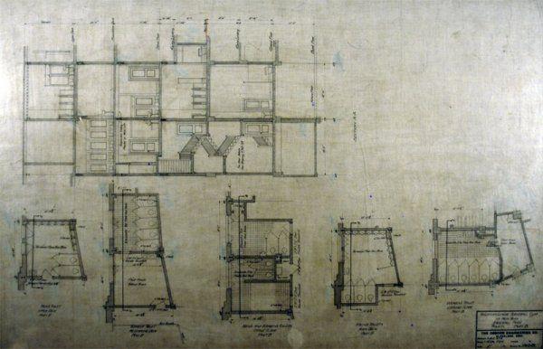 Stadium Architectural Plan for Part B Toilets, 9-1