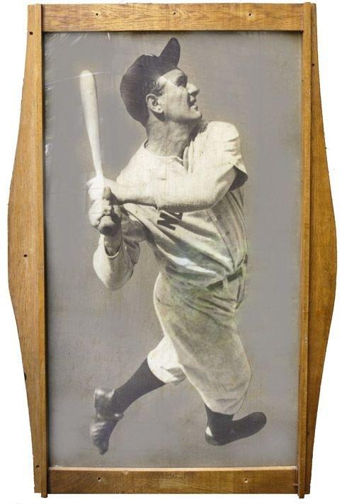 21A: Lou Gehrig  Oak-Framed Photographic Image