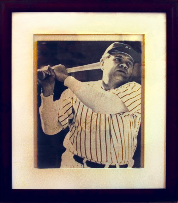 268: Possibly Last Known Babe Ruth Autographed Photo