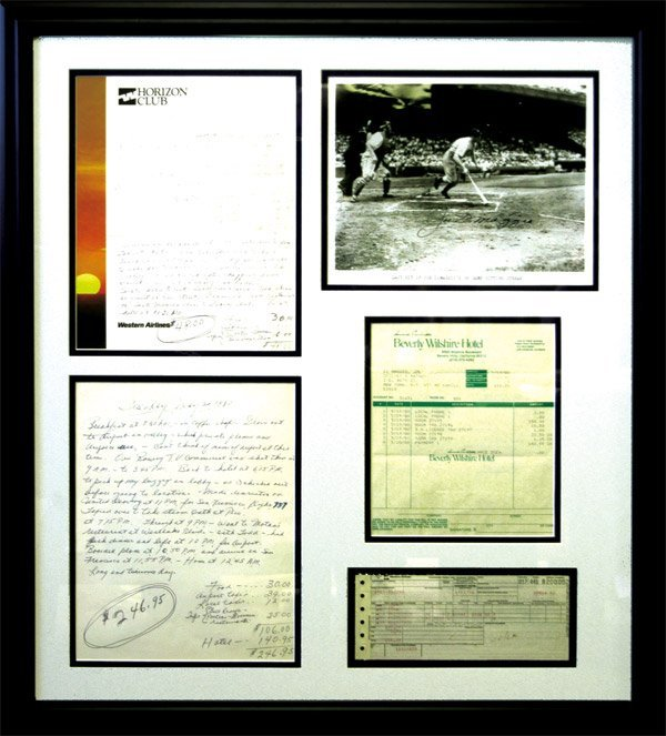 273: Collection of Joe DiMaggio Trip Expense Ephemera