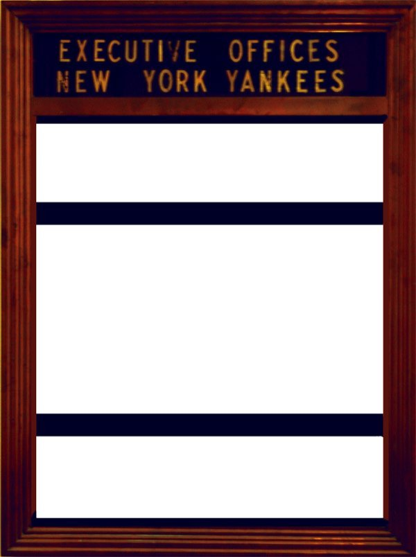 275: Metal Signholder for New York Yankees Executive Of