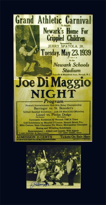 277: Joe DiMaggio Night Handbill from 1939 Charity
