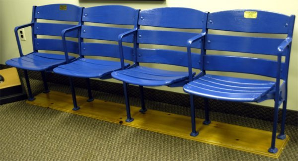 280: Four Connected Yankee Stadium Seats, pre-1973