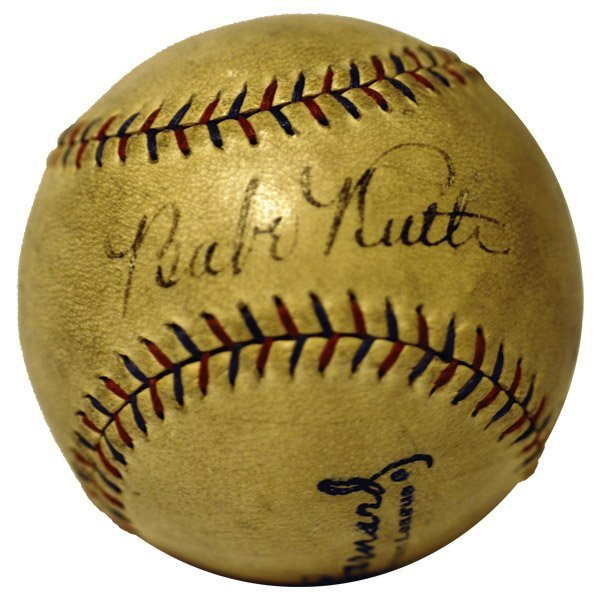 320: Lou Gehrig and Babe Ruth Signed Baseball