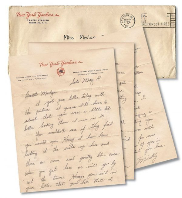 266A: Mickey Mantle Handwritten Letter to Merlyn