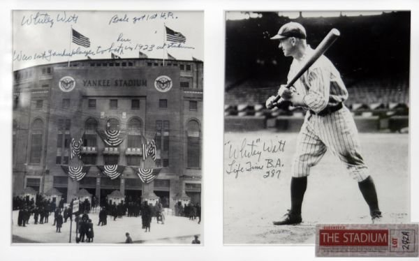 272A: Two Yankee Player Whitey Witt Signed Photographs