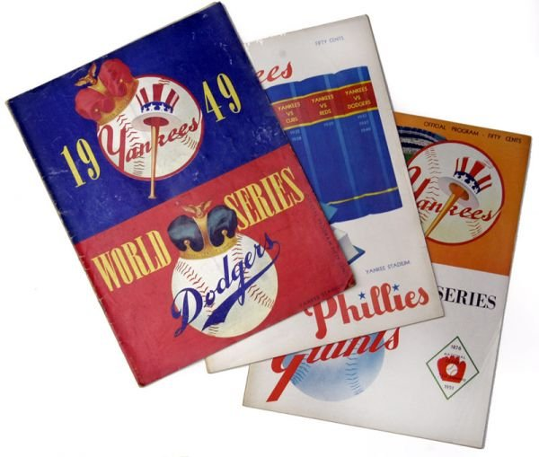 266B: NY Yankees World Series Programs 1949-51