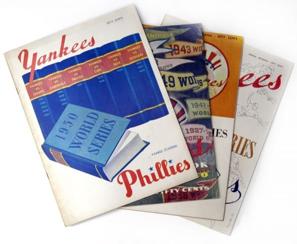 266C: NY Yankees World Series Programs 1950-52