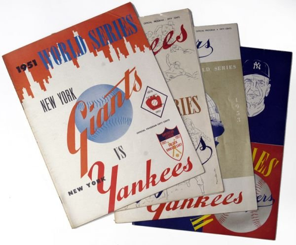 266D: NY Yankees World Series Programs 1951-53, 55-56