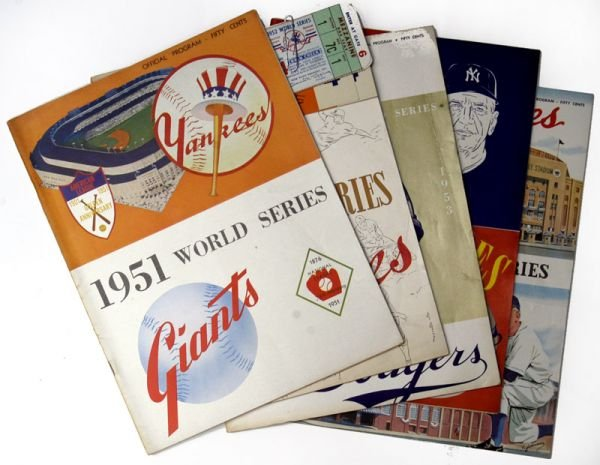 266E: NY Yankees World Series Programs 1951-53, 55-56
