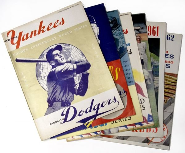 266G: NY Yankees World Series Programs 1953, 55, 57-58,