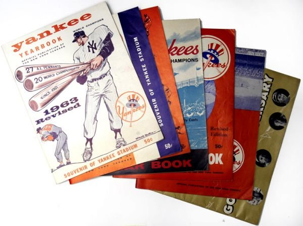 266H: NY Yankees Yearbooks 1957-61, 63