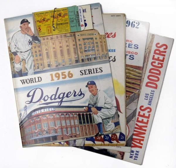 266I: NY Yankees World Series Programs 1956, 58, 62, 63