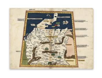 Ptolemaus U. A. Magna Germania Quarta Europae tabula.