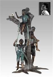 Kids and Tree Swing, Bronze ex. Michael Jackson