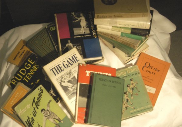 11: Collection of Tennis Books, 1930s to 1970s