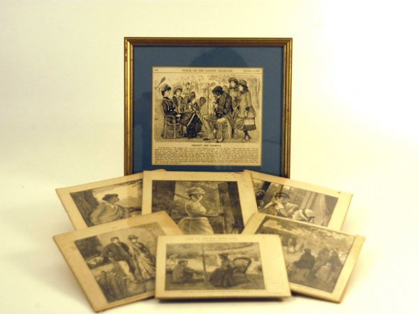 30: Seven Printed Lithographs from Books and Newspapers