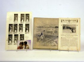 Four Tennis-Related Paper Items, C. 1890s To 1920s