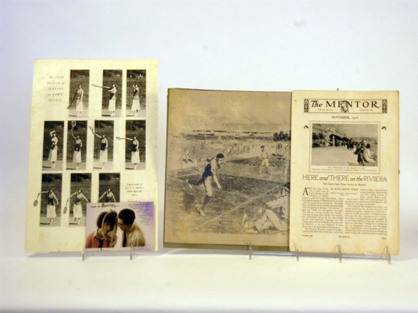 36: Four Tennis-Related Paper Items, c. 1890s to 1920s