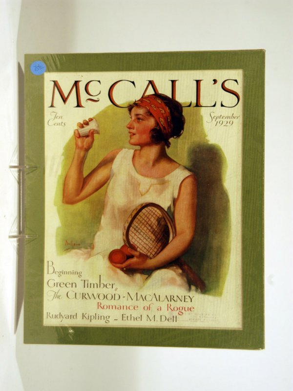 38: Early 20th-Century Magazine Covers with Tennis Them