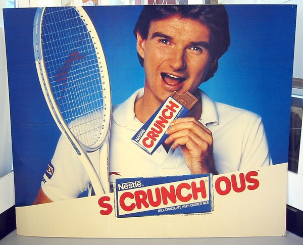 30B: Jimmy Connors Nestle Crunch Poster, 1988
