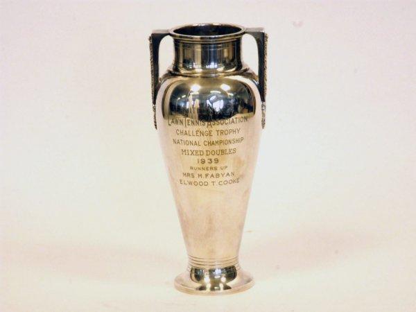 281: M. Fabyan 1939 USLTA Mixed Doubles Runners-Up Trop