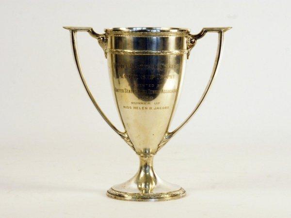 297: Helen Jacobs 1939 USLTA Runner-Up Singles Trophy