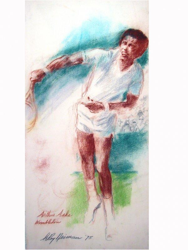 """425: """"Arthur Ashe, 1975"""" by LeRoy Neiman"""