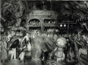 "429: George Bellows Lithograph ""The Tournament (Tennis"