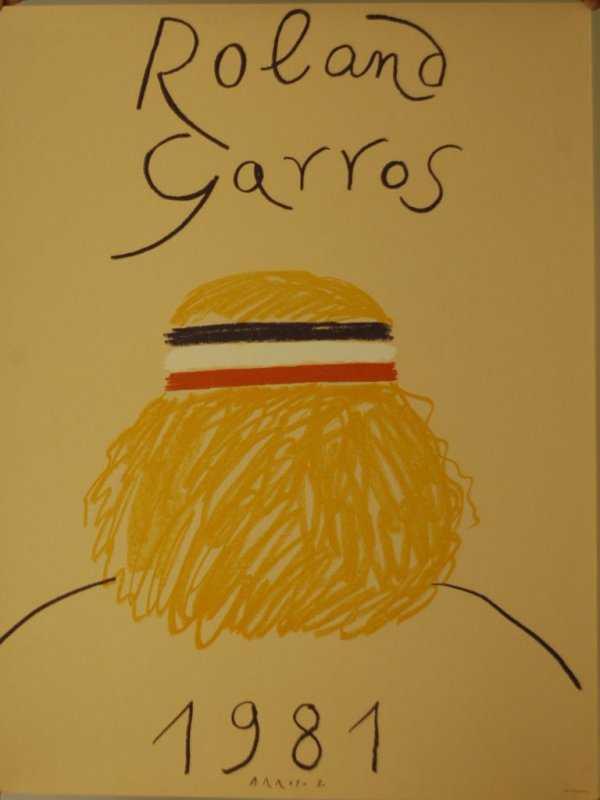 479: Roland Garos 1981 Bjorn Borg French Open Poster