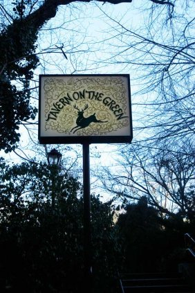 Tavern On the Green Sign from Central Park West