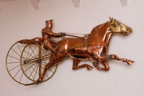 Harness Racer Copper Weathervane