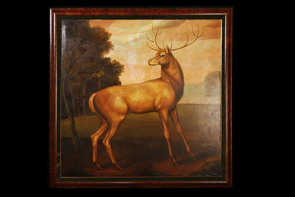 Oil Painting of Forest Stag