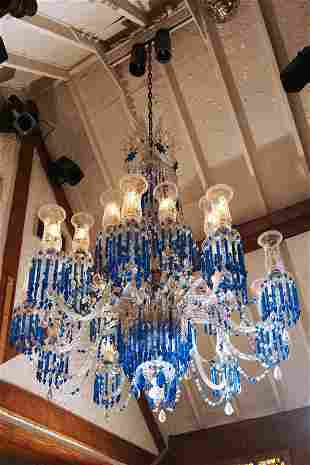 Blue Strauss Chandelier from Rafters Room