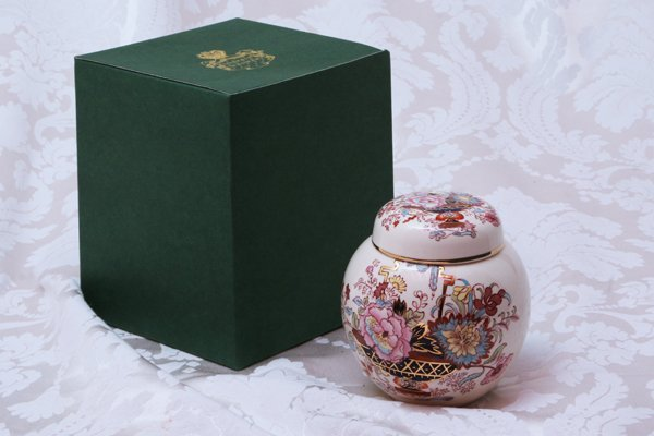 Set of Six Mason Ginger Jars with Lid in Box