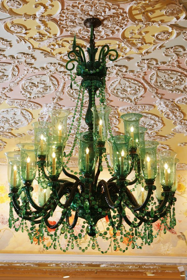 19th-Century Green Osler Chandelier