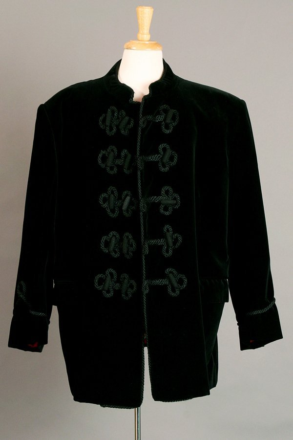 Black Velvet Nehru Jacket by Turnbull & Asser