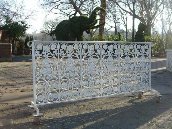 Rose-Patterned Wrought Iron Railings