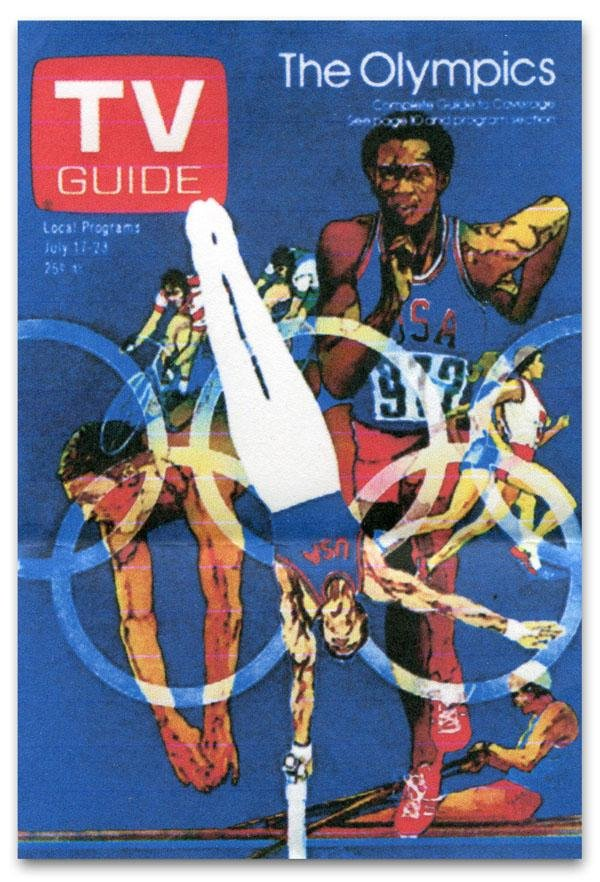 Original Olympic-Themed TV Guide Cover Art