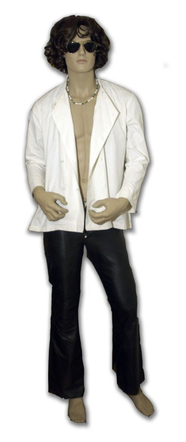 Jim Morrison Stage-Worn Leather Pants and Cotton Shirt