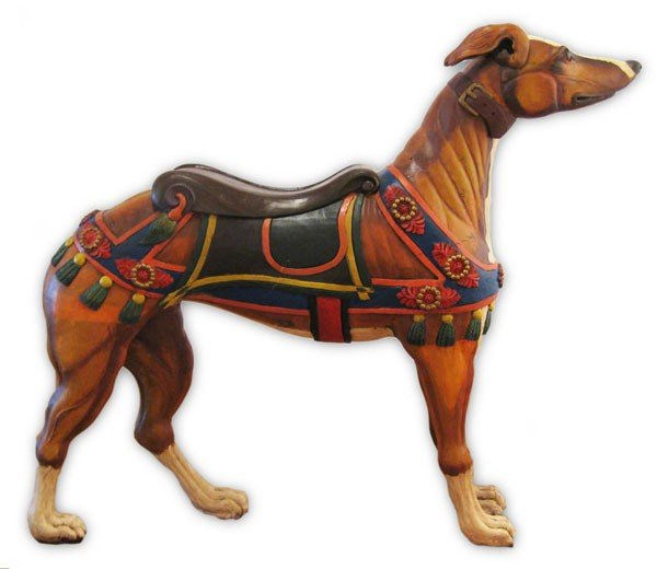 Carousel Greyhound, in the style of Charles Looff