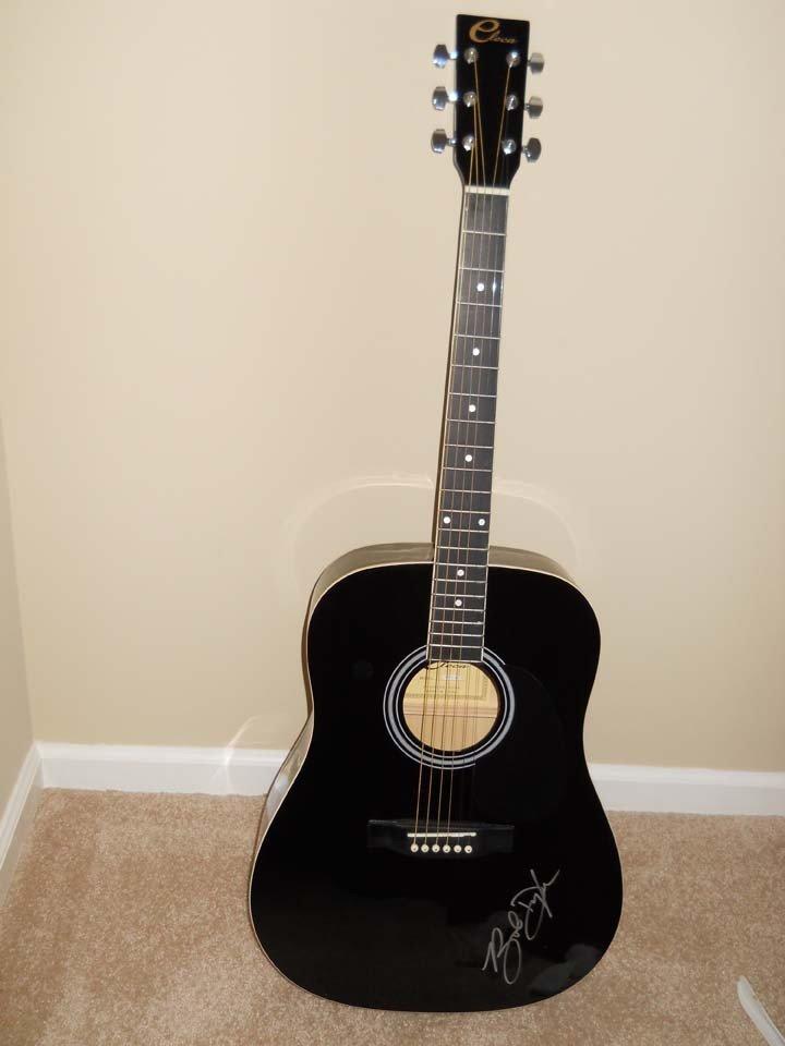 1349: Bob Dylan Signed Black Eleca Acoustic Guitar