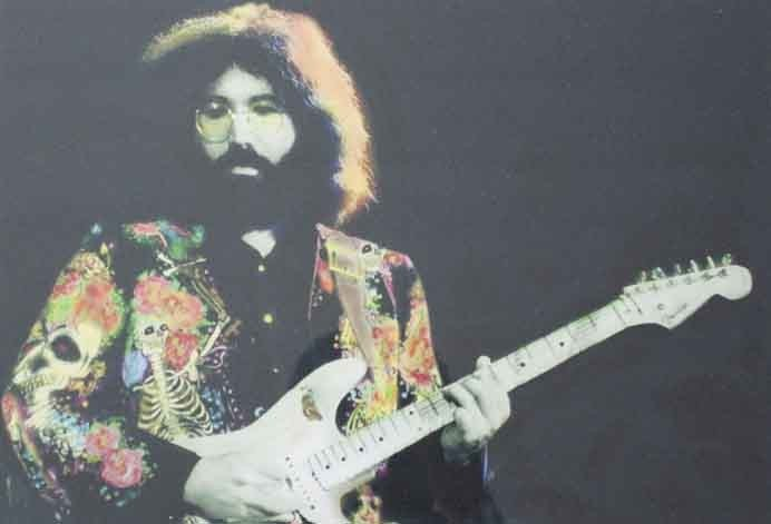 """1443: Color Photograph of Jerry Garcia Wearing"""" Nudie S"""