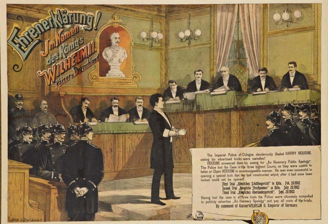 19: Houdini in the German Courtroom, 1902
