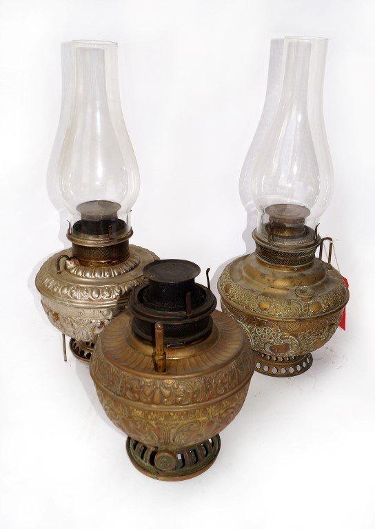 Three Victorian Oil Lanterns